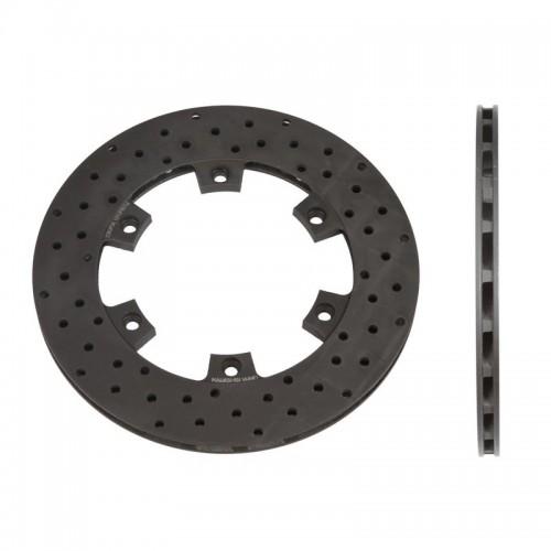 Disque de frein AR turbo ventilé perforé épaisseur 12 mm