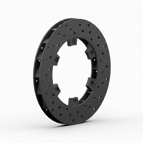 Disque de frein AR turbo ventilé perforé 200X18mm