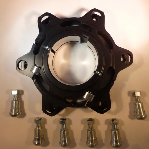 Support disque flottant aluminium noir diamètre 50mm