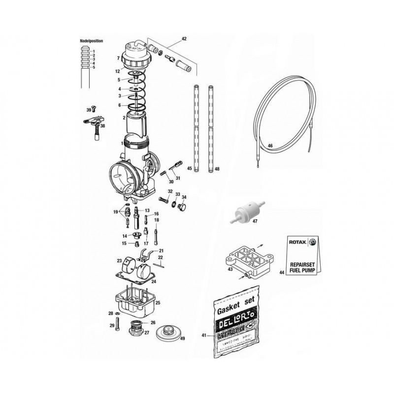 GICLEUR PRINCIPAL VHSB34 130 ROTAX MICROMAX