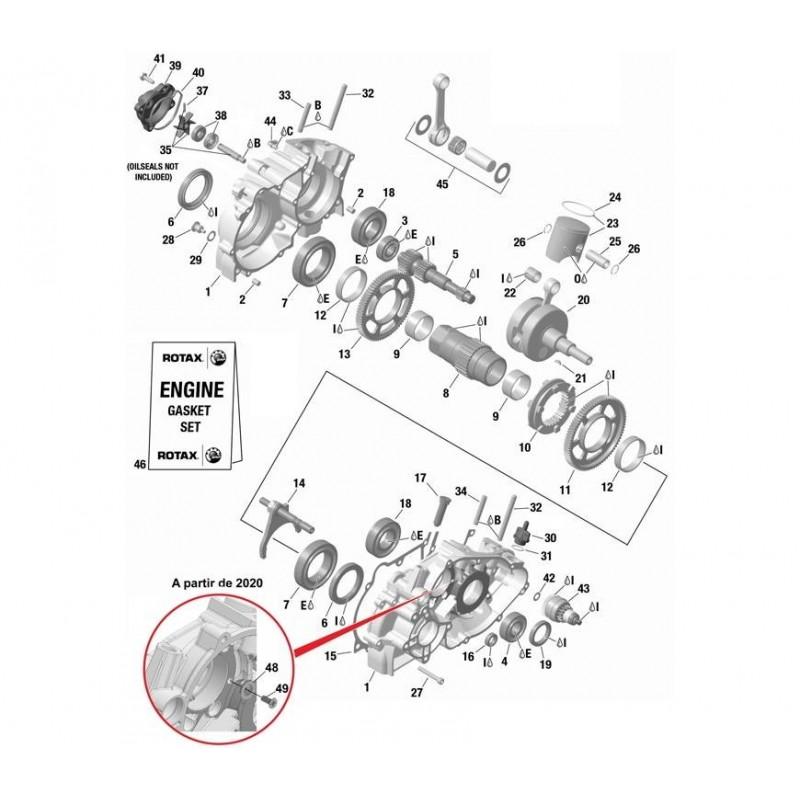 GOUJON CYLINDRE M8X57X20
