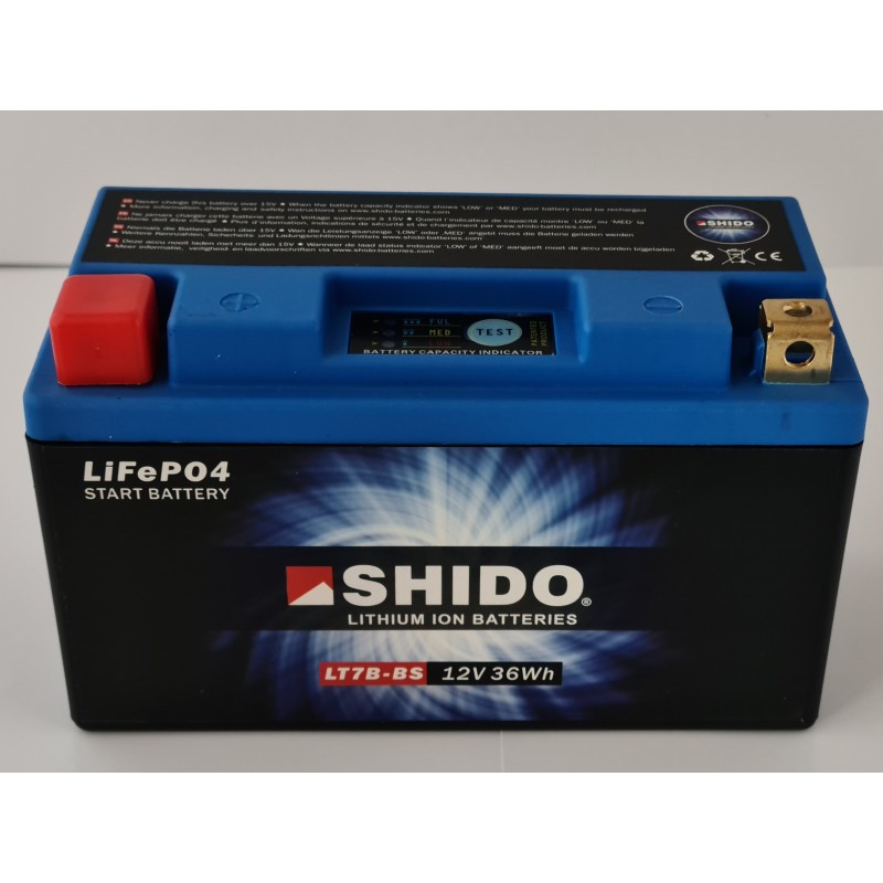 BATTERIE LITHIUM ION SHIDO 12 V 36 Wh
